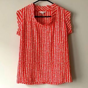 Cabi Sleeveless Red & White Madeline Top XS
